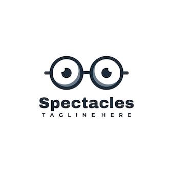 Occhiali logo design illustrazione vettoriale