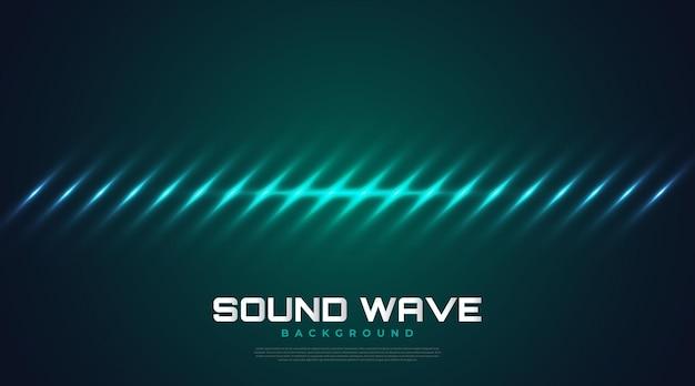 Sfondo di spettro sonoro con onde incandescenti. design dell'equalizzatore per musica, dati, scienza e tecnologia. sfondo musicale adatto per copertina, presentazione, banner o sfondo