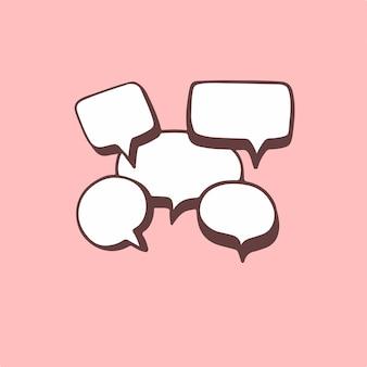 Illustrazione di vettore del simbolo di chiacchierata della bolla di discorso