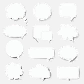 Speech bubble set sfondo bianco con gradiente maglie