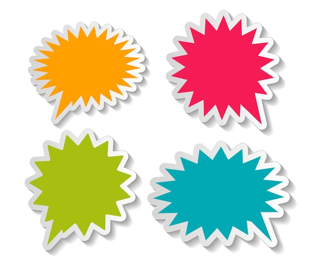 Illustrazione degli adesivi delle bolle di discorso