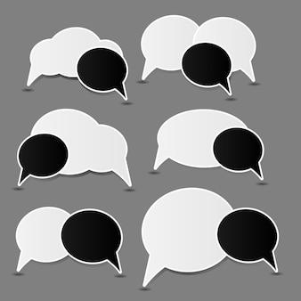 Illustrazione vettoriale di bolle di discorso