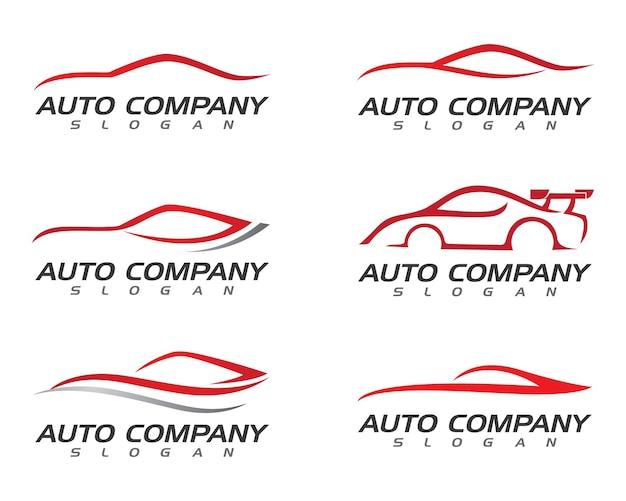 Icona di vettore del modello di logo dell'automobile di velocità auto