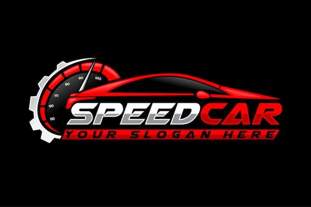 Modello di logo di auto velocità
