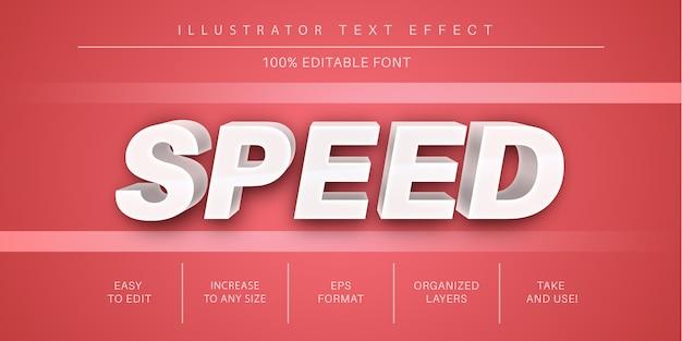 Velocità effetto testo modificabile