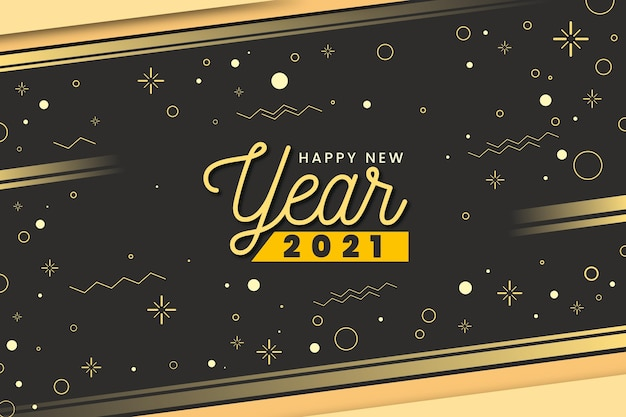 Speed light golden felice anno nuovo 2021