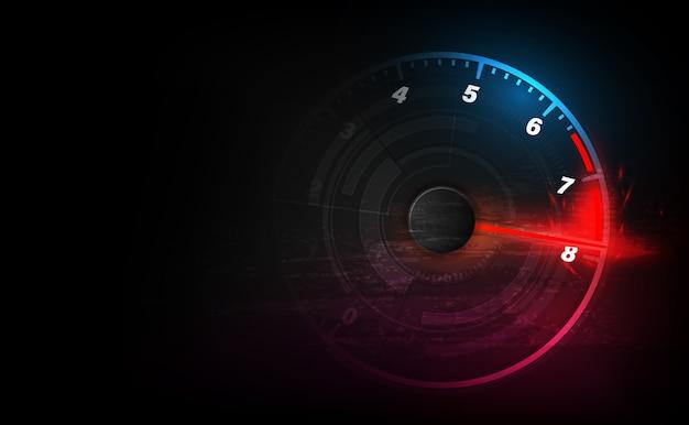 Priorità bassa di movimento di velocità con automobile del tachimetro veloce. sfondo di velocità di corsa.