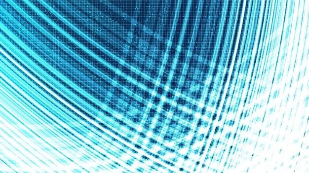 Tecnologia speed motion su sfondo futuro, digitale e connessione