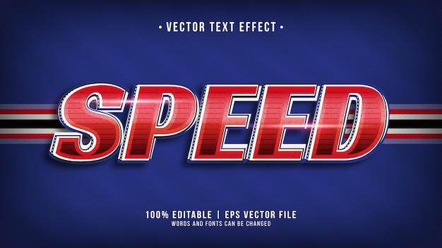 Effetto testo da corsa di velocità a tema rosso blu