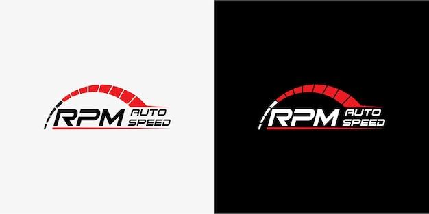 Design del logo speed rpm per il settore automobilistico