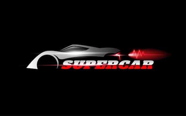 Modello di logo vettoriale di auto super veloce
