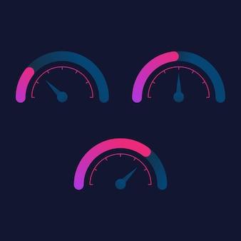 Icona del tachimetro per il design dell'icona dell'illustrazione vettoriale del logo automatico