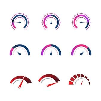 Disegno dell'icona dell'illustrazione vettoriale del tachimetro
