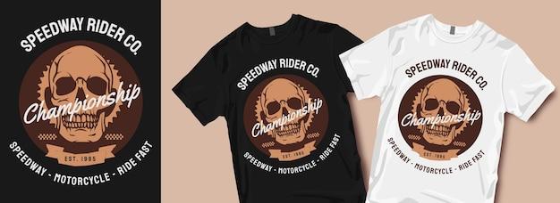 Disegni di t-shirt da motociclista speedway