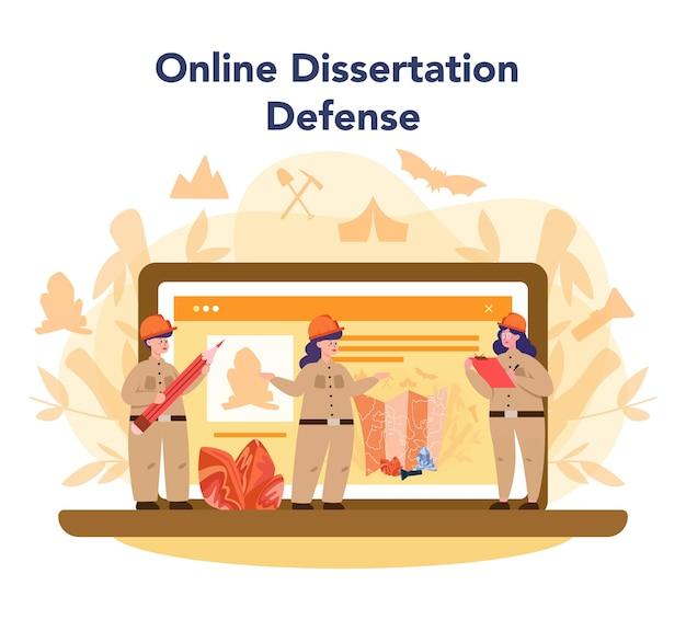 Servizio o piattaforma online di speleologo