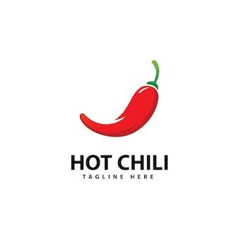 Icona logo peperoncino piccante vettore modello logo peperoncino rosso
