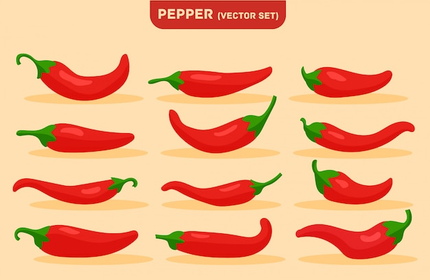 Cibo piccante, salsa delicata ed extra piccante, peperoncino rosso.