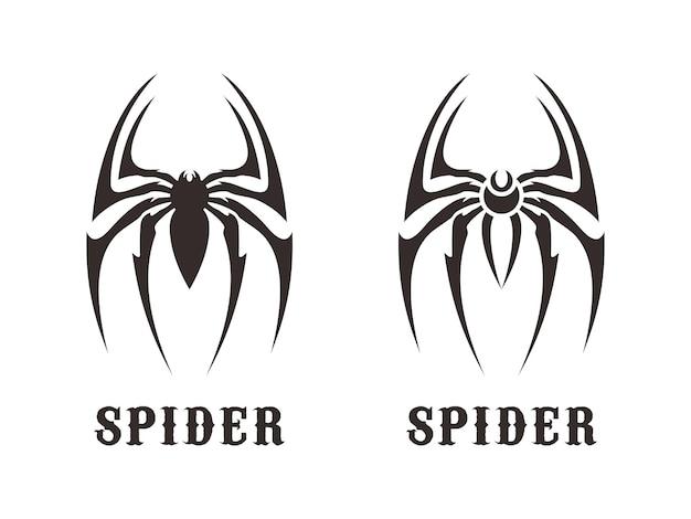 Sagoma di design del logo simbolo di ragno insetto artropodi