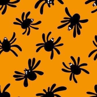 Modello di halloween con motivo a ragno