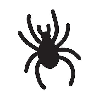 Illustrazione di doodle di vettore spettrale ragno per invito a una festa di halloween, tessuto dolcetto e scherzetto, biglietto di auguri evento fantasma spaventoso, poster, banner.