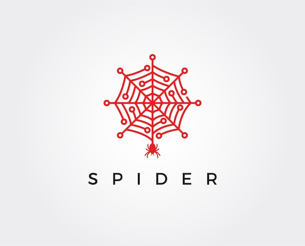 Modello logo ragno tech