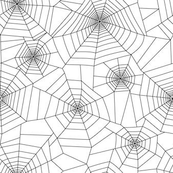 Modello di ragnatela. decorazione di halloween con ragnatela. illustrazione vettoriale piatto ragnatela