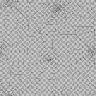 Modello di ragnatela. decorazione di halloween con ragnatela. illustrazione vettoriale di ragnatela