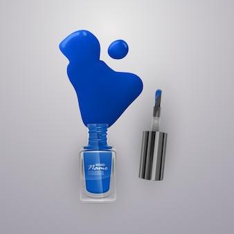 Ho versato degli smalti per unghie. smalti per unghie di colori vivaci, illustrazione