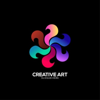 Design colorato sfumato con logo spinner