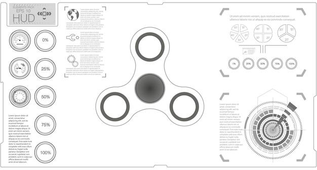 Spinner infografica bianca