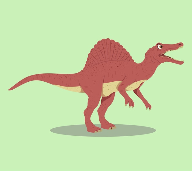 Spinosaurus cartoon illustration design