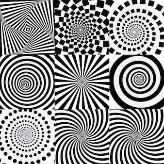 Spirale con effetto vortice. Vettore Premium