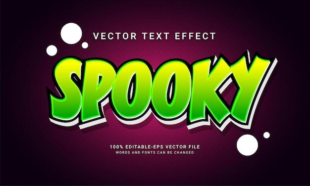 Effetto spettrale in stile testo modificabile con tema evento di halloween
