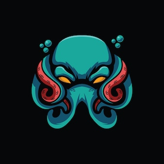 Spooky octopus design illustrazione vettoriale