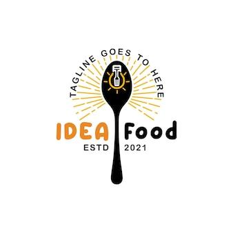 Cucchiaio lampadina idee ristorante ispirazione creativa per il design del logo