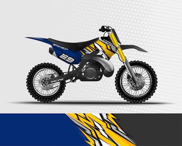 Disegno astratto di sfondo sportivo per moto da corsa motocross dirt bike