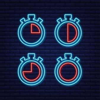 Sfondo sportivo. insieme di vettore. impostato su sfondo bianco. cronometro. illustrazione di riserva di vettore.