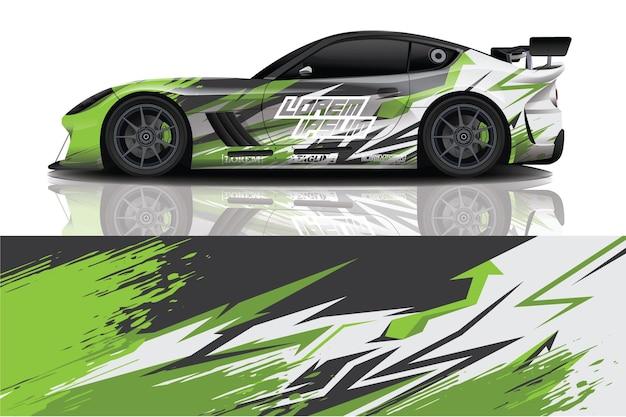 Design avvolgente per decalcomanie per auto sportive
