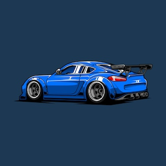 Drift auto sportiva