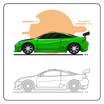Auto sportiva verde