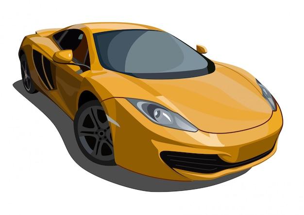 Illustrazione di auto sportiva Vettore Premium