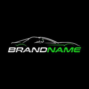 Modello di logo di auto sportiva
