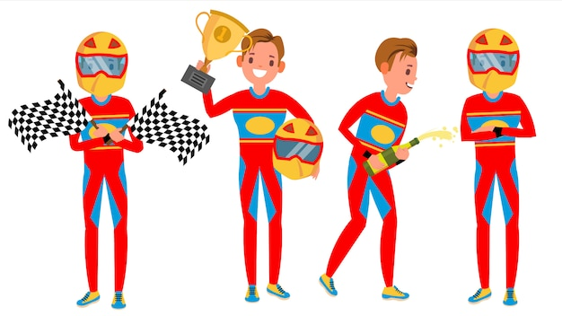 Sport car racer maschio