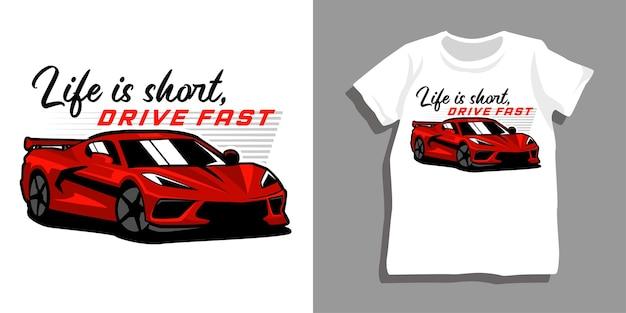 Design tshirt auto sportiva