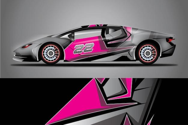 Design avvolgente per auto sportive vettore gratuito