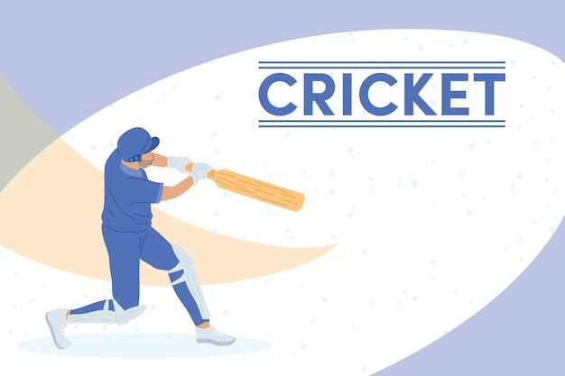 Giocatore di cricket sportivo
