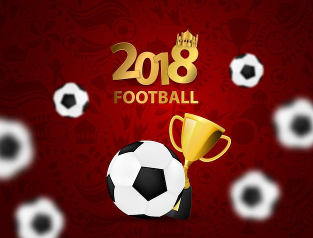 Modello di sport design concept football 2018