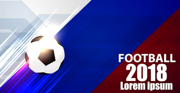 Sport design concept campionato mondiale di calcio