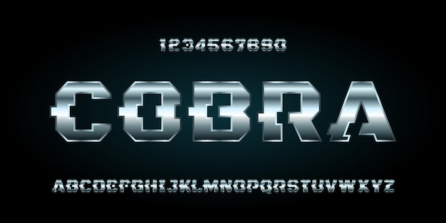Fonte di alfabeto futuristico moderno digitale di sport. carattere tipografico in stile urbano