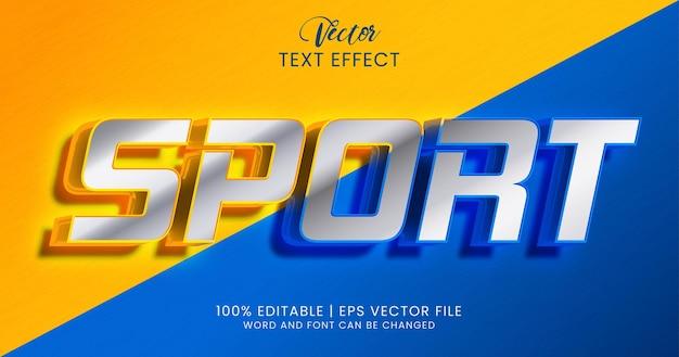 Stile effetto testo modificabile per lo sport